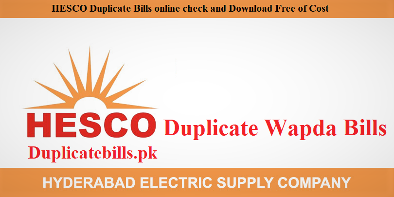 View duplicate Hesco Bills Online and print to pay.You can also pay with online payment method