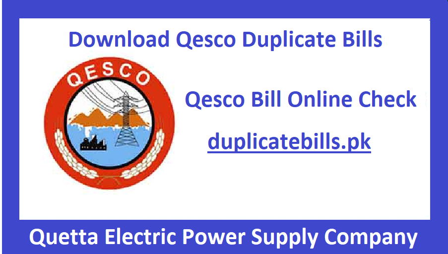 Online Qesco bills available for view and download. If you are a residional of qesco region then must check your bill online