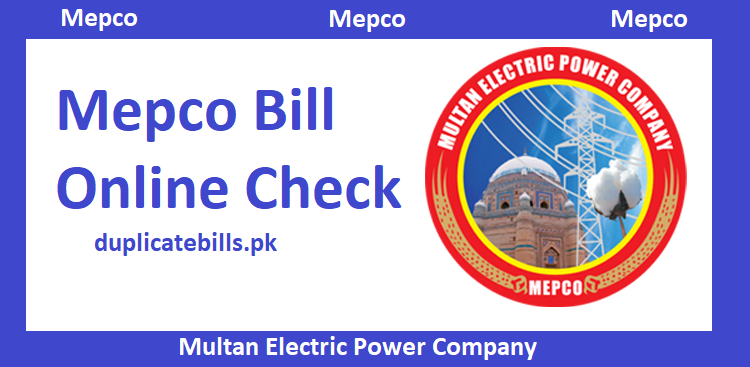 Online Mepco Bill view here free of cost dosen metter you live in any mepco region
